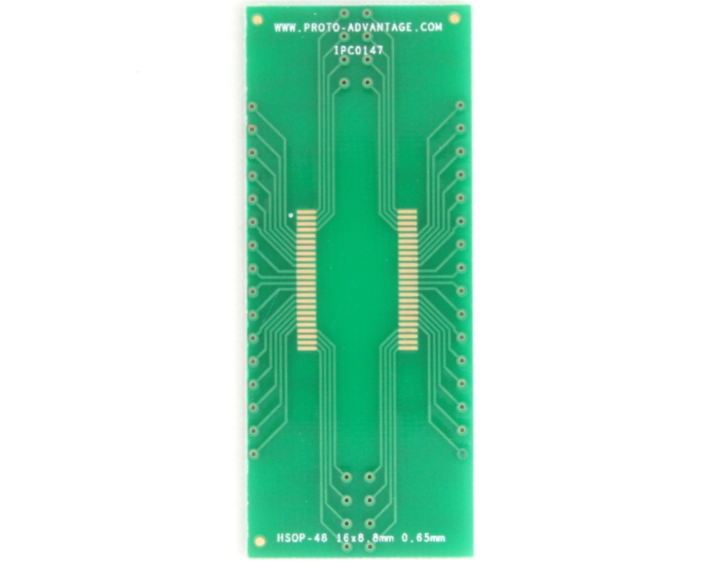 HSOP-48 to DIP-52 SMT Adapter (0.65 mm pitch, 16 x 8.8 mm body) 2