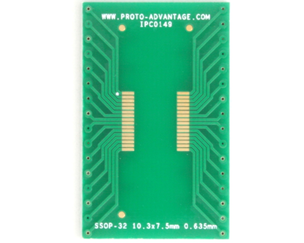 SSOP-32 to DIP-32 SMT Adapter (0.635 mm pitch, 10.3 x 7.5 mm body) 2