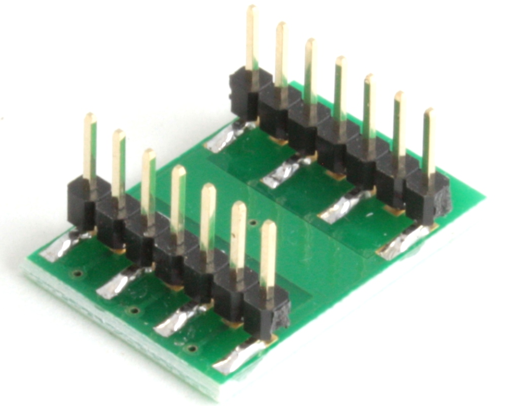 DFN-10 to DIP-14 SMT Adapter (0.5 mm pitch, 2.5 x 2.5 mm body) 1