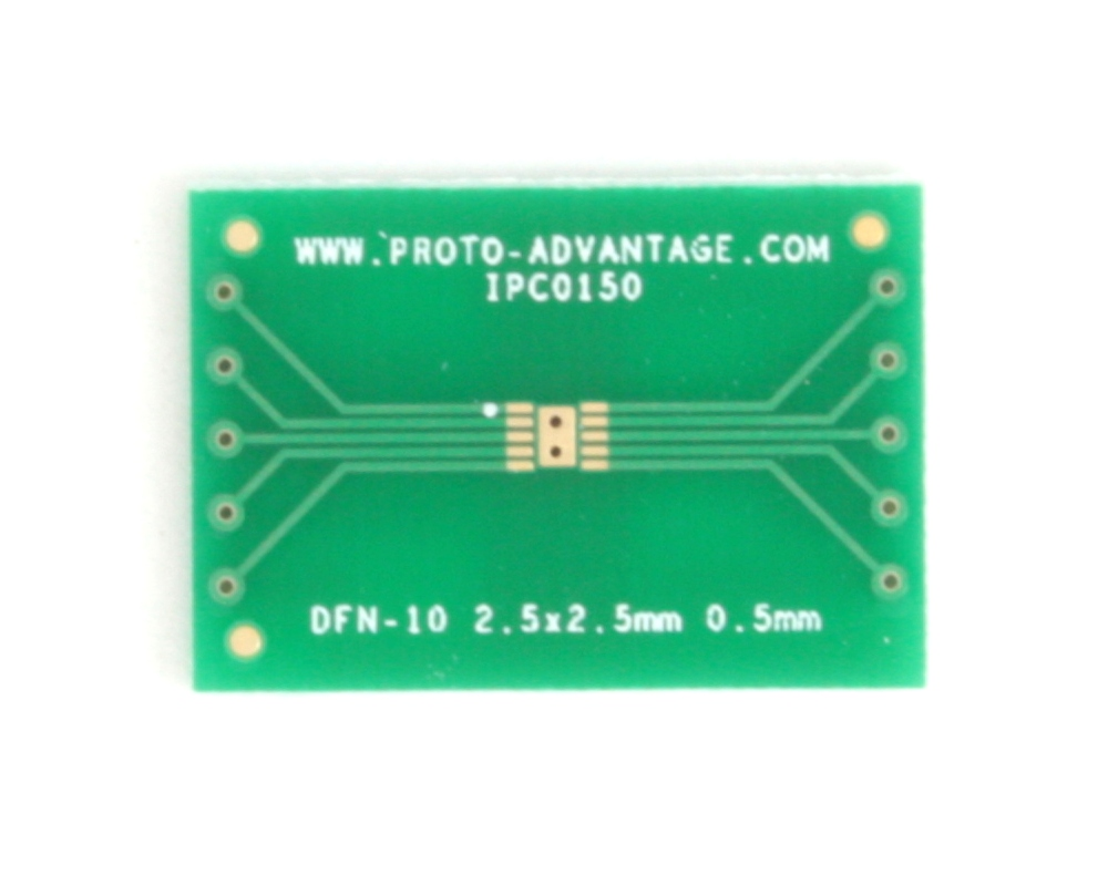 DFN-10 to DIP-14 SMT Adapter (0.5 mm pitch, 2.5 x 2.5 mm body) 2