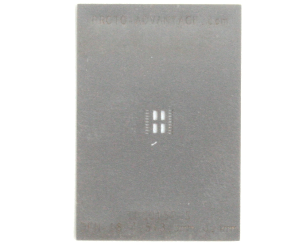 DFN-18 (0.4 mm pitch, 4.5 x 3.5 mm body) Stainless Steel Stencil 0
