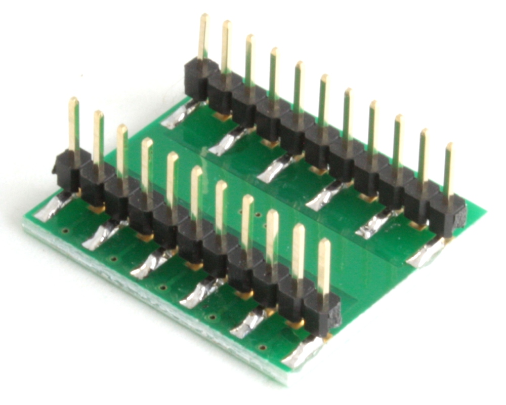 DFN-18 to DIP-22 SMT Adapter (0.4 mm pitch, 4.5 x 3.5 mm body) 1