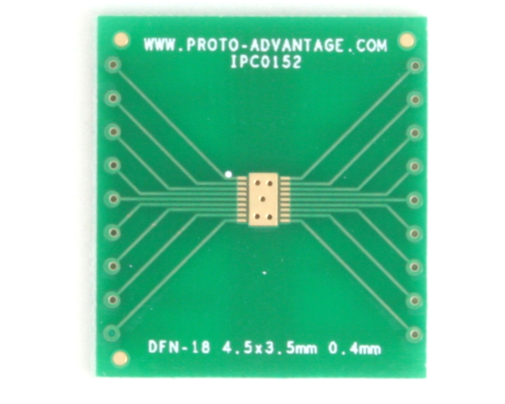 DFN-18 to DIP-22 SMT Adapter (0.4 mm pitch, 4.5 x 3.5 mm body) 2