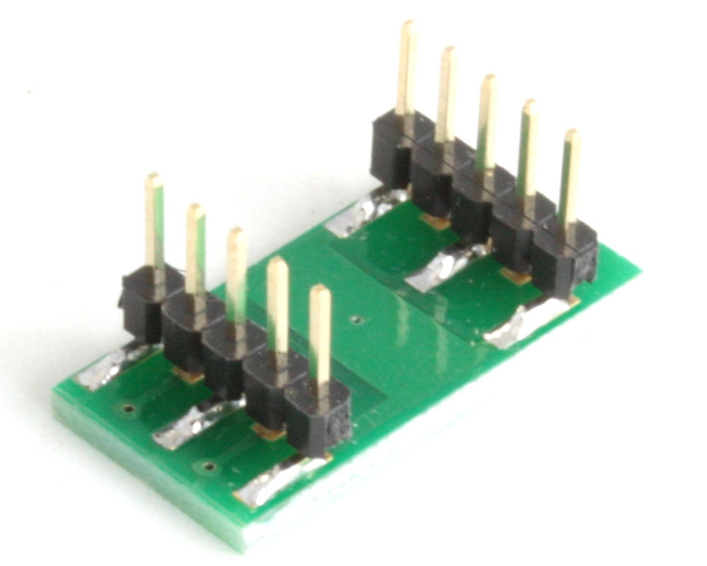 DFN-6 to DIP-10 SMT Adapter (0.5 mm pitch, 2 x 3 mm body) 1