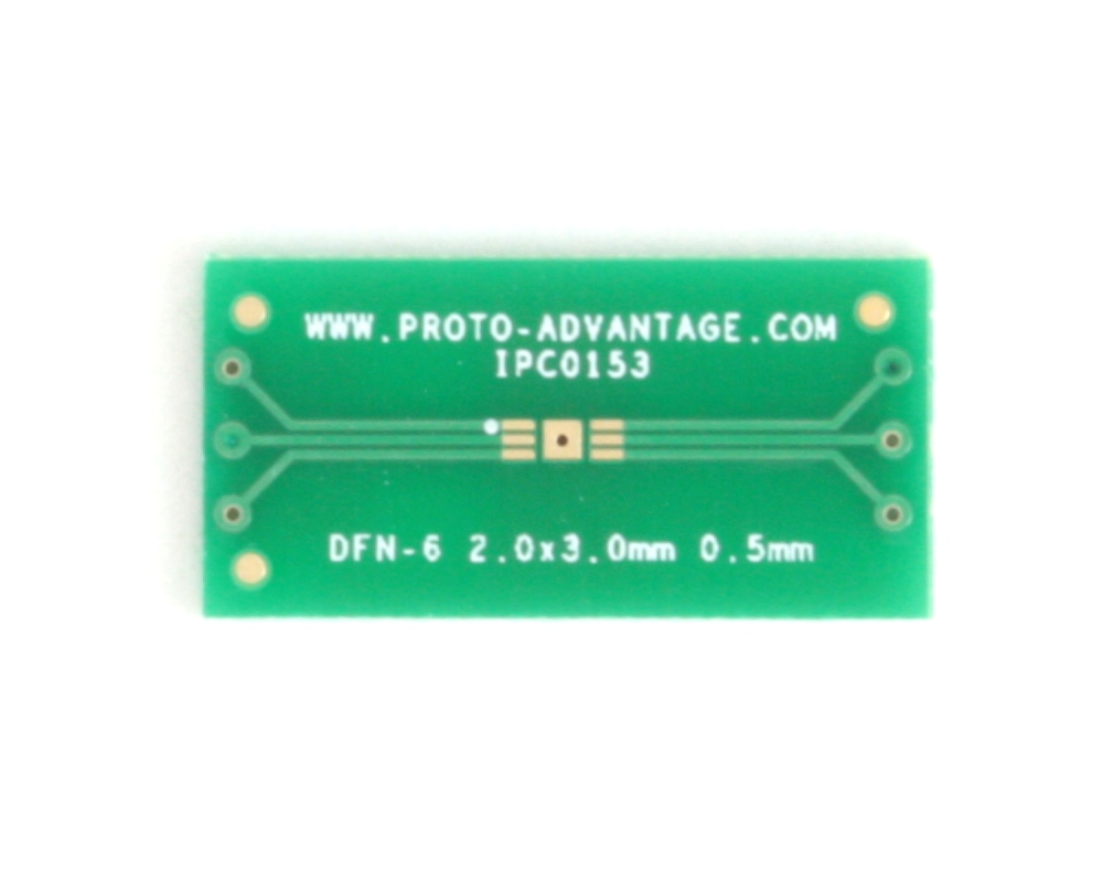 DFN-6 to DIP-10 SMT Adapter (0.5 mm pitch, 2 x 3 mm body) 2