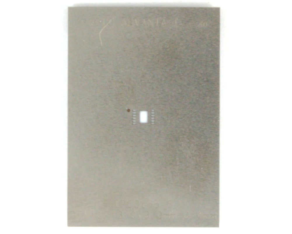 DFN-12 (0.4 mm pitch, 3 x 3 mm body) Stainless Steel Stencil 0