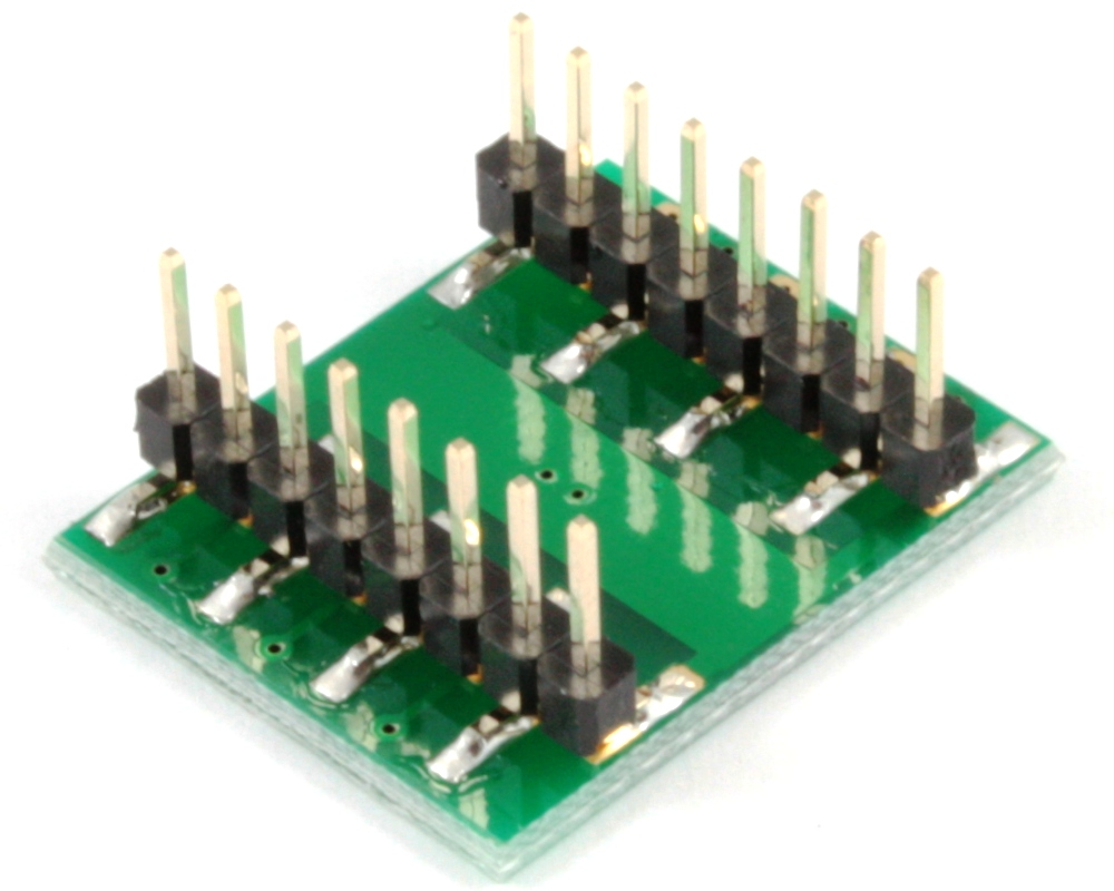 DFN-12 to DIP-16 SMT Adapter (0.4 mm pitch, 3 x 3 mm body) 1