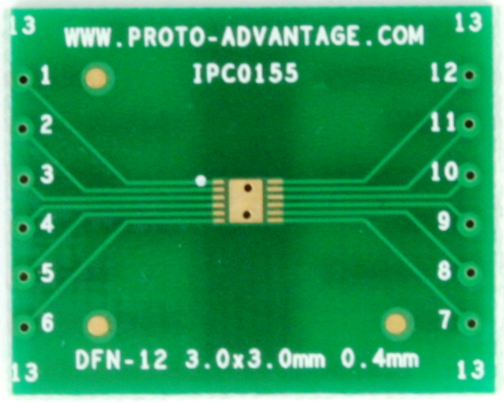 DFN-12 to DIP-16 SMT Adapter (0.4 mm pitch, 3 x 3 mm body) 2