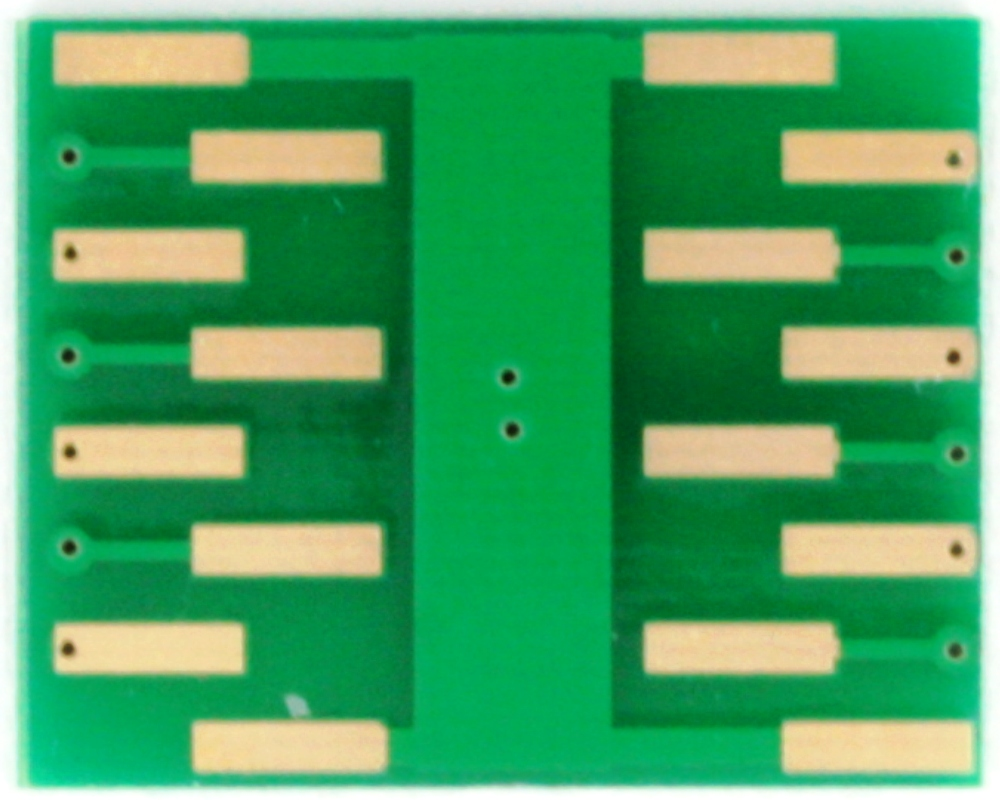 DFN-12 to DIP-16 SMT Adapter (0.4 mm pitch, 3 x 3 mm body) 3