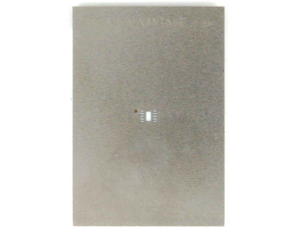 DFN-10 (0.4 mm pitch, 2 x 2 mm body) Stainless Steel Stencil 0