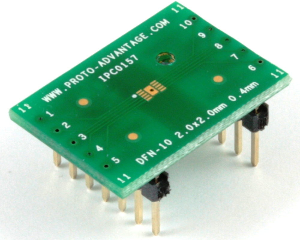 DFN-10 to DIP-14 SMT Adapter (0.4 mm pitch, 2 x 2 mm body) 0
