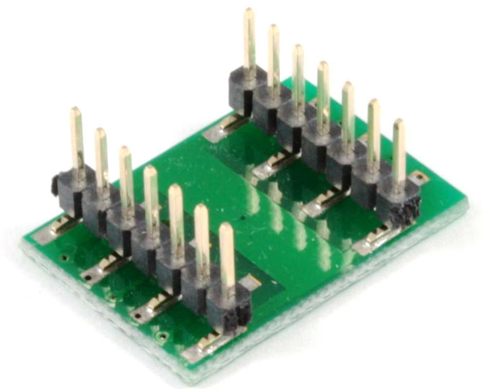 DFN-10 to DIP-14 SMT Adapter (0.4 mm pitch, 2 x 2 mm body) 1