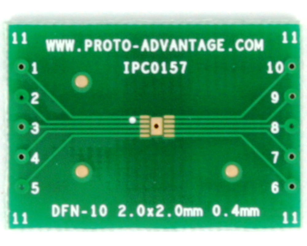 DFN-10 to DIP-14 SMT Adapter (0.4 mm pitch, 2 x 2 mm body) 2