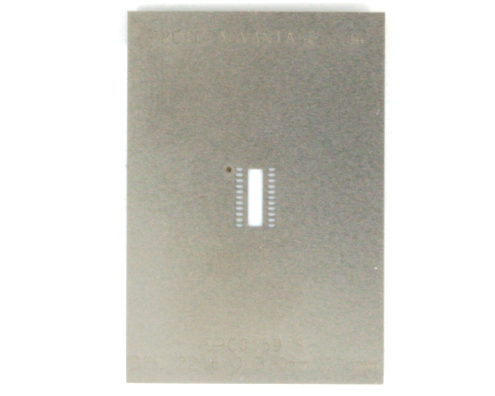 DFN-22 (0.5 mm pitch, 6 x 3 mm body) Stainless Steel Stencil 0