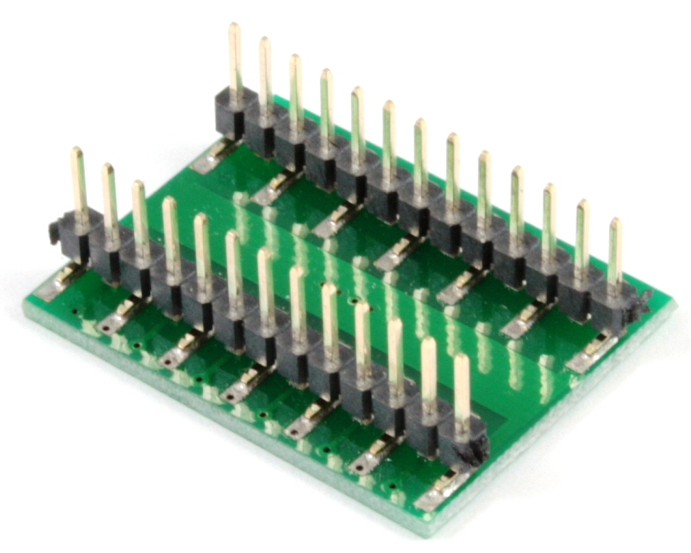 DFN-22 to DIP-26 SMT Adapter (0.5 mm pitch, 6 x 3 mm body) 1