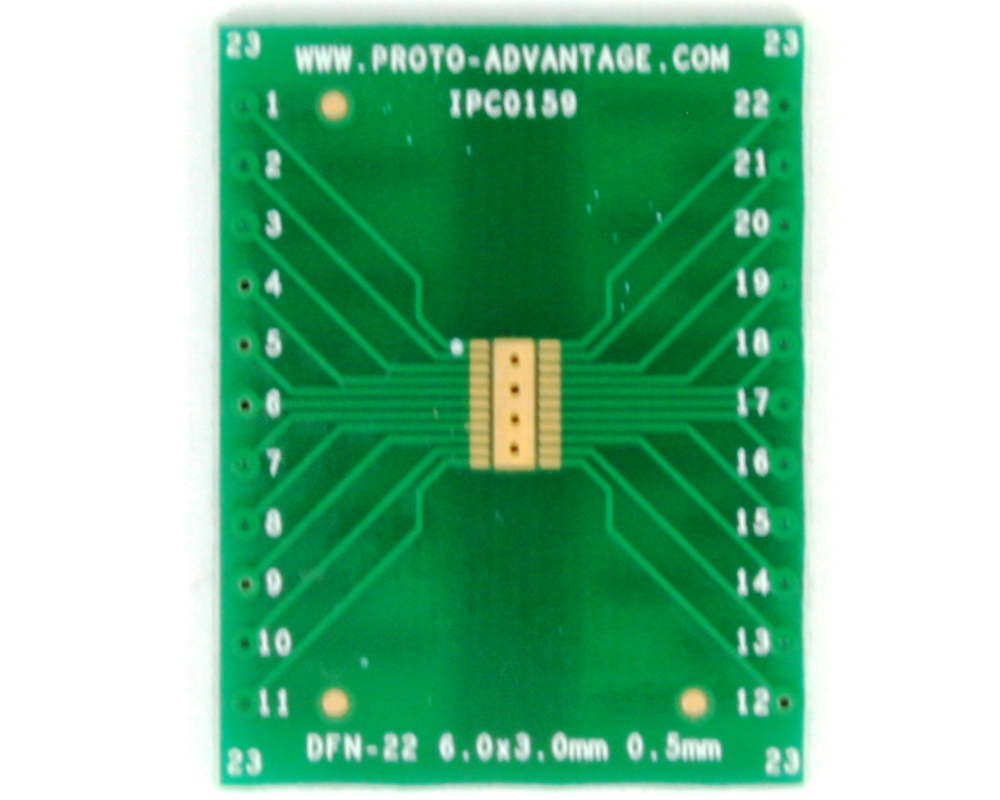 DFN-22 to DIP-26 SMT Adapter (0.5 mm pitch, 6 x 3 mm body) 2