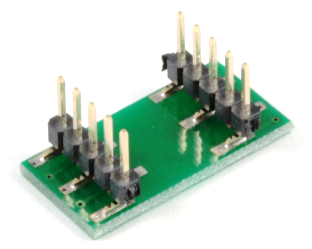 LGA-10 to DIP-10 SMT Adapter (0.65 mm pitch, 3 x 3 mm body) 1