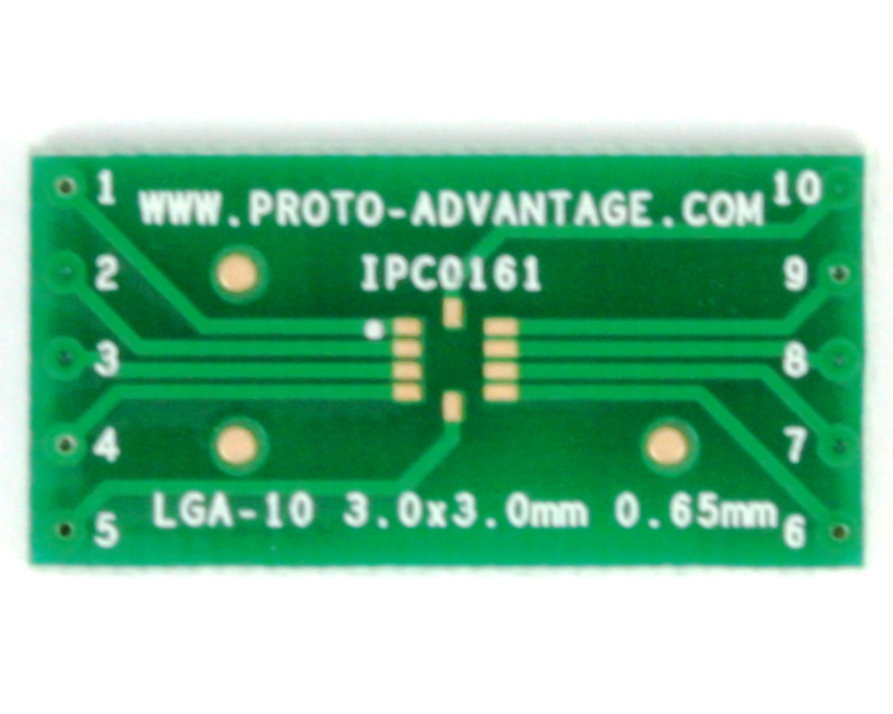 LGA-10 to DIP-10 SMT Adapter (0.65 mm pitch, 3 x 3 mm body) 2