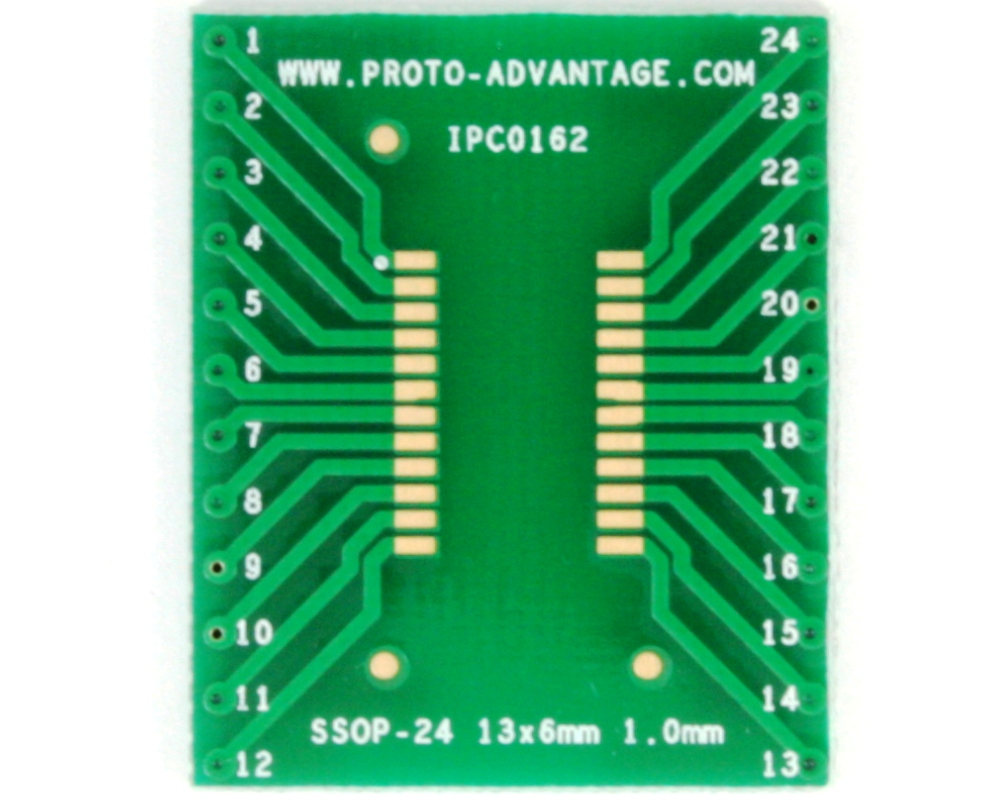 SSOP-24 to DIP-24 SMT Adapter (1.0 mm pitch, 13 x 6 mm body) 2