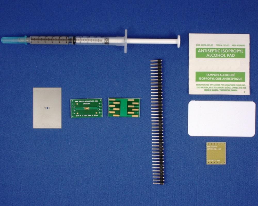DFN-8 (0.45 mm pitch, 2 x 3 mm body) PCB and Stencil Kit 0