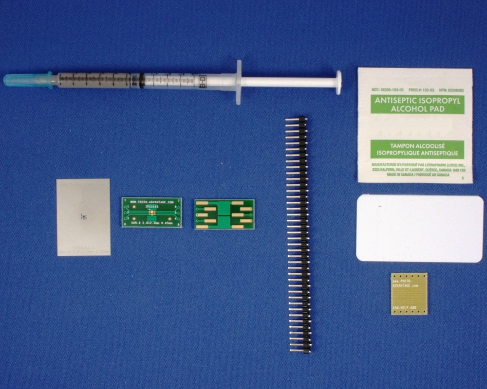 SON-6 (0.65 mm pitch, 2 x 2 mm body) PCB and Stencil Kit 0