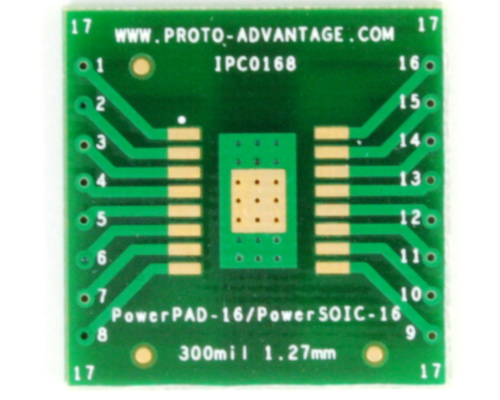Proto Advantage Powerpad 16 Powersoic To Dip 20 Smt Adapter Small Outline Integrated Circuit Soic And Sop Click Enlarge