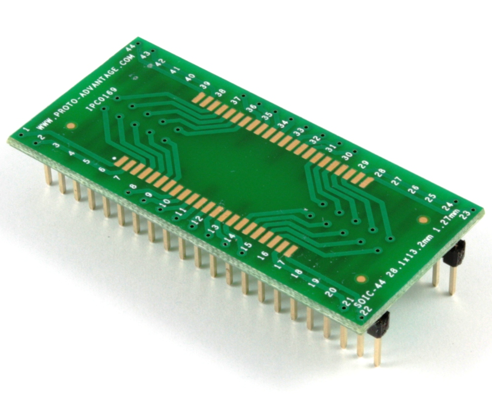SOIC-44 to DIP-44 SMT Adapter (1.27 mm pitch, 28.1 x 13.2 mm body) 0