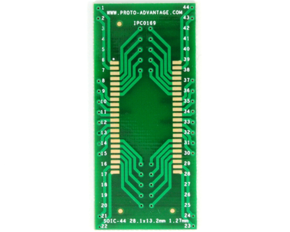 SOIC-44 to DIP-44 SMT Adapter (1.27 mm pitch, 28.1 x 13.2 mm body) 2