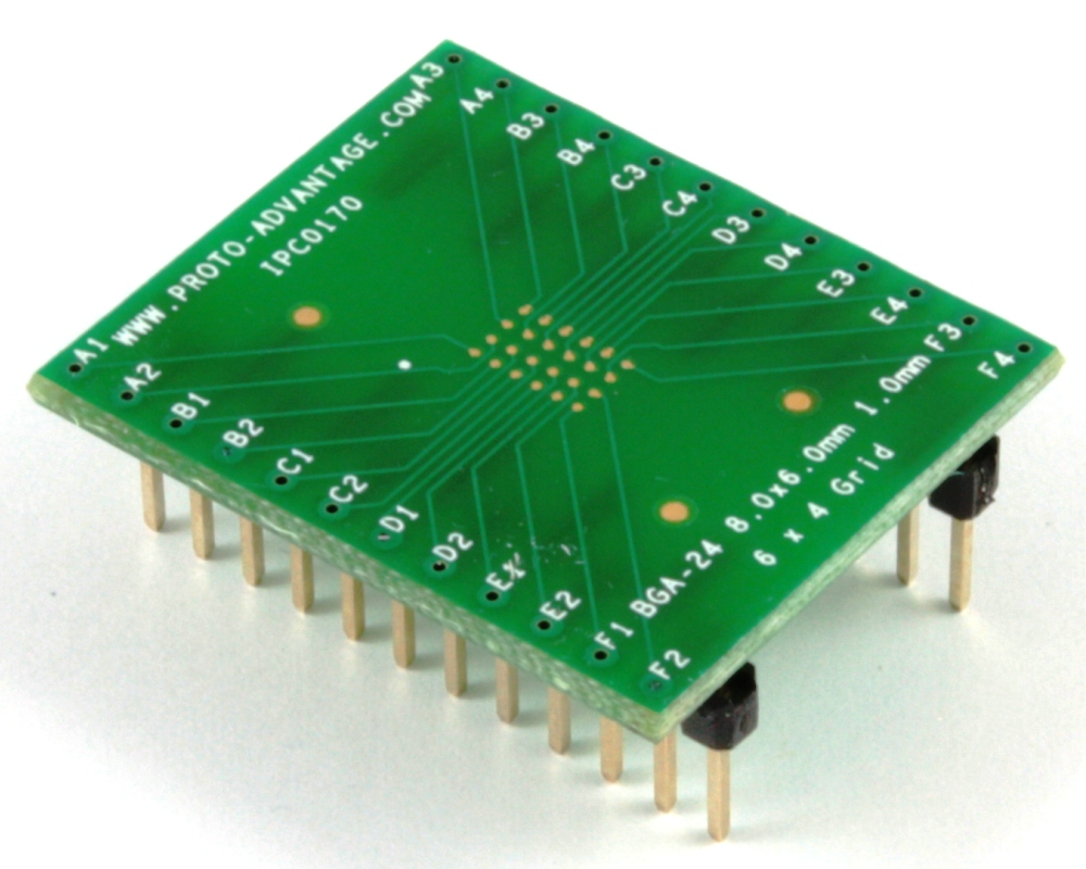 BGA-24 to DIP-24 SMT Adapter (1.0 mm pitch, 8 x 6 mm body) 0