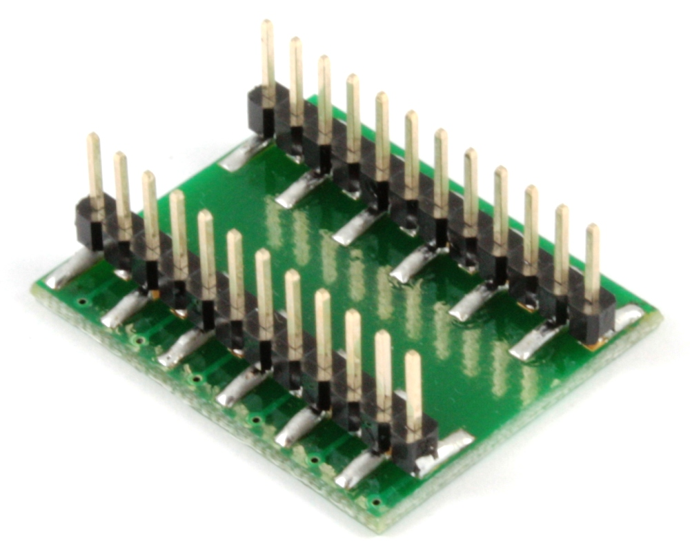 BGA-24 to DIP-24 SMT Adapter (1.0 mm pitch, 8 x 6 mm body) 1