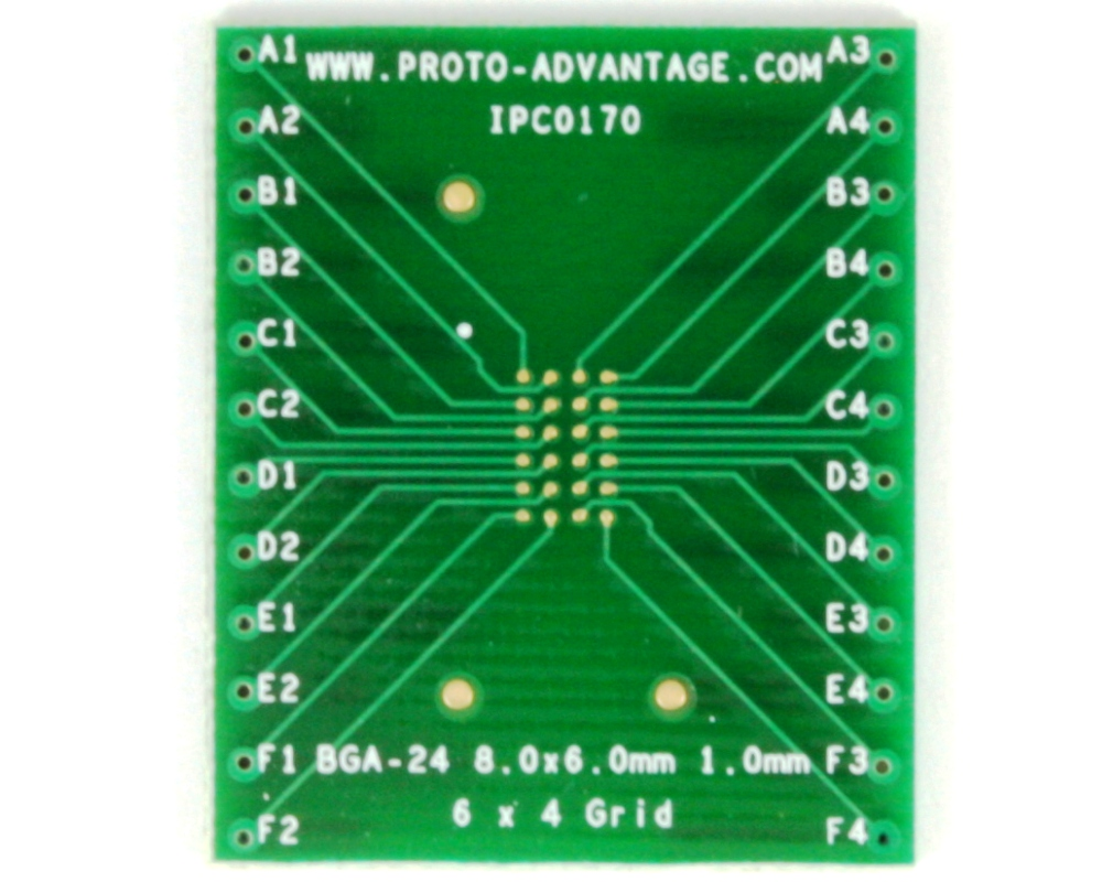 BGA-24 to DIP-24 SMT Adapter (1.0 mm pitch, 8 x 6 mm body) 2
