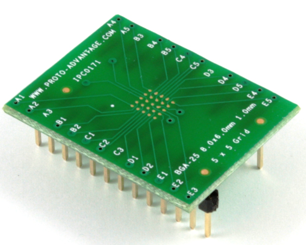 BGA-25 to DIP-25 SMT Adapter (1.0 mm pitch, 8 x 6 mm body) 0