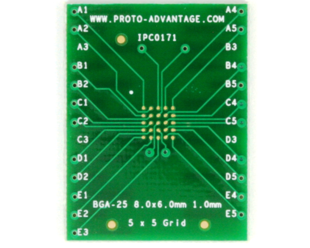 BGA-25 to DIP-25 SMT Adapter (1.0 mm pitch, 8 x 6 mm body) 2