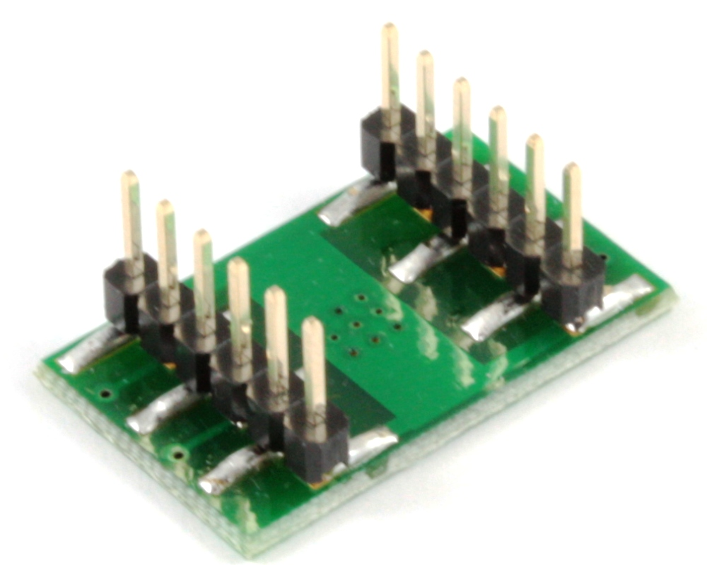 DFN-8/MLP-8 to DIP-12 SMT Adapter (1.27 mm pitch, 6 x 8 mm body) 1