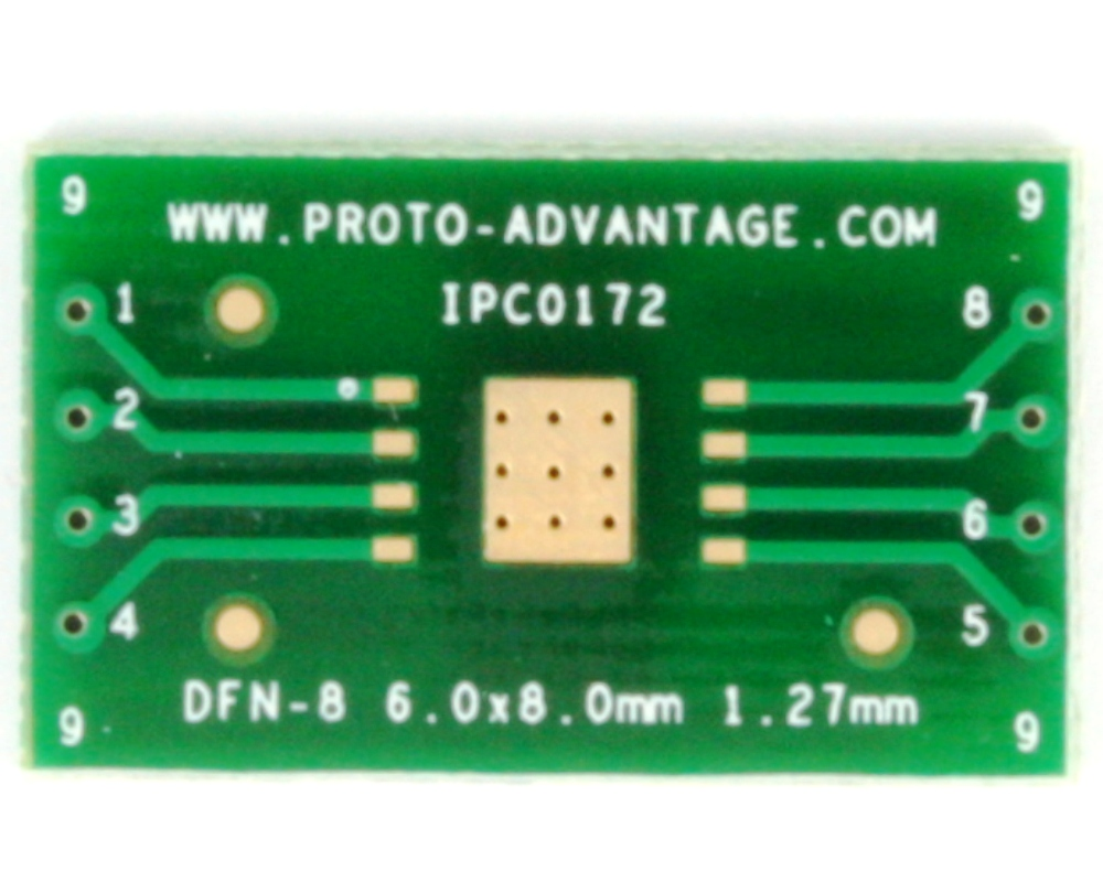 DFN-8/MLP-8 to DIP-12 SMT Adapter (1.27 mm pitch, 6 x 8 mm body) 2