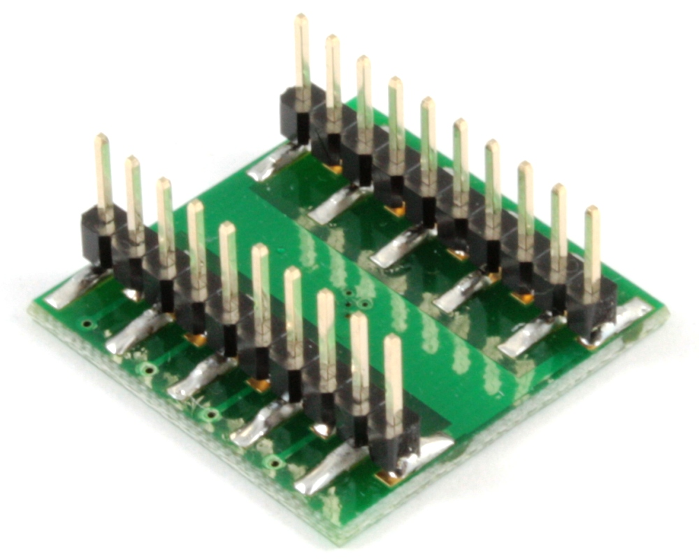 QFN-16 to DIP-20 SMT Adapter (0.5 mm pitch, 4 x 3.5 mm body) 1