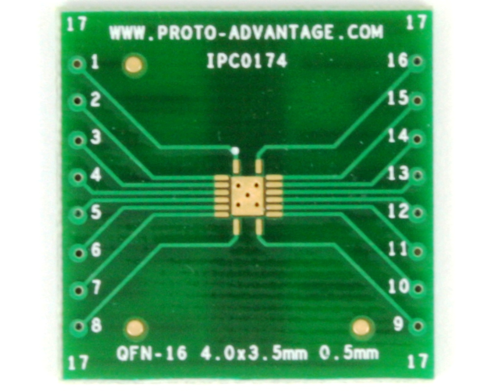 QFN-16 to DIP-20 SMT Adapter (0.5 mm pitch, 4 x 3.5 mm body) 2