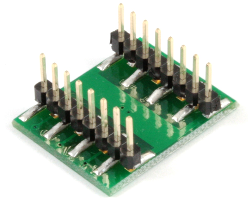 DFN-12 to DIP-16 SMT Adapter (0.5 mm pitch, 3 x 3 mm body) 1