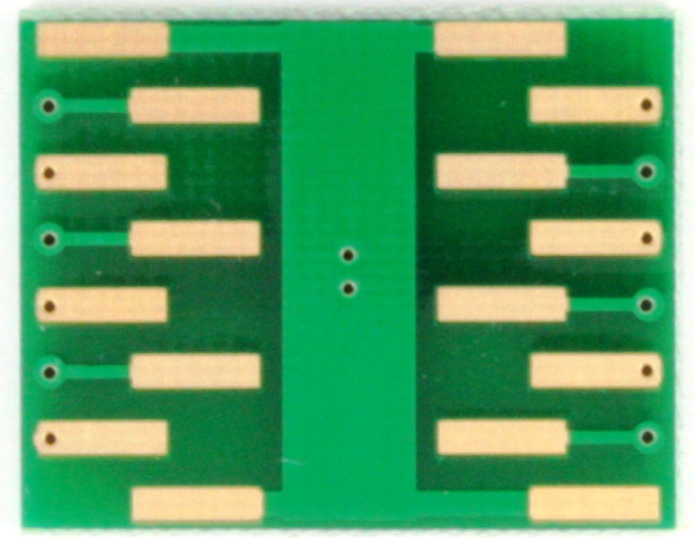 DFN-12 to DIP-16 SMT Adapter (0.5 mm pitch, 3 x 3 mm body) 3