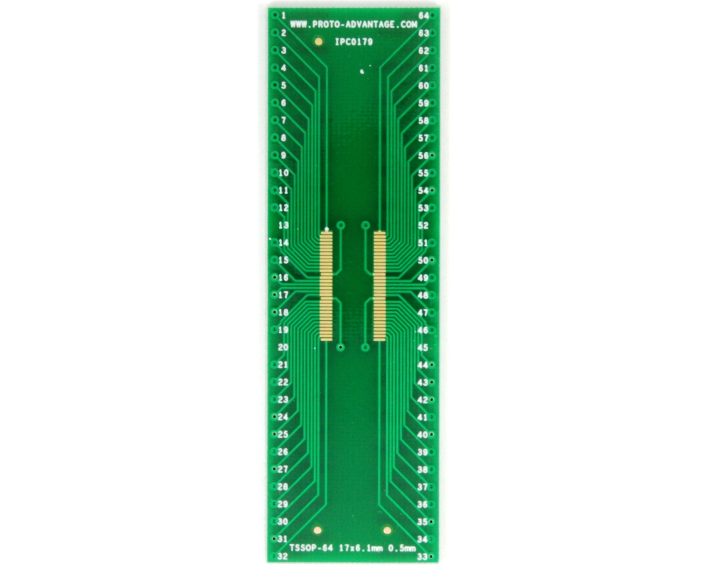 TSSOP-64 (long pins) to DIP-64 SMT Adapter (0.5 mm pitch, 17 x 6.1 mm body) 2