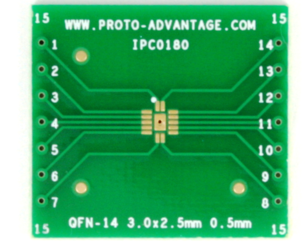 QFN-14 to DIP-18 SMT Adapter (0.5 mm pitch, 3 x 2.5 mm body) 2