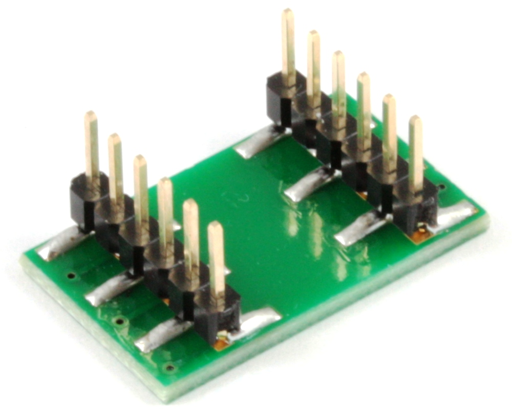QFN-12 to DIP-12 SMT Adapter (0.4 mm pitch, 2 x 1.7 mm body) 1