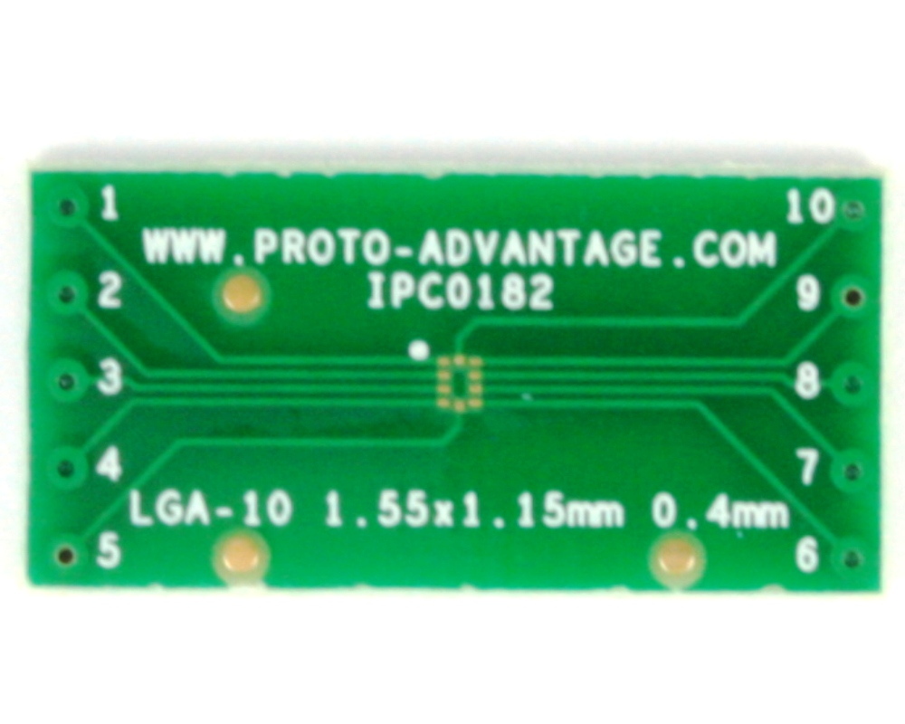 LGA-10 to DIP-10 SMT Adapter (0.4 mm pitch, 1.55 x 1.15 mm body) 2