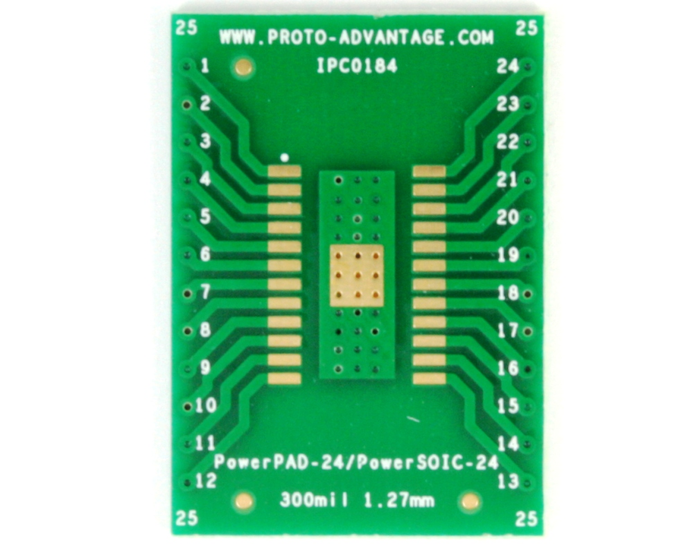 PowerPAD-24/PowerSOIC-24 to DIP-28 SMT Adapter (1.27 mm pitch, 300 mil body) 2