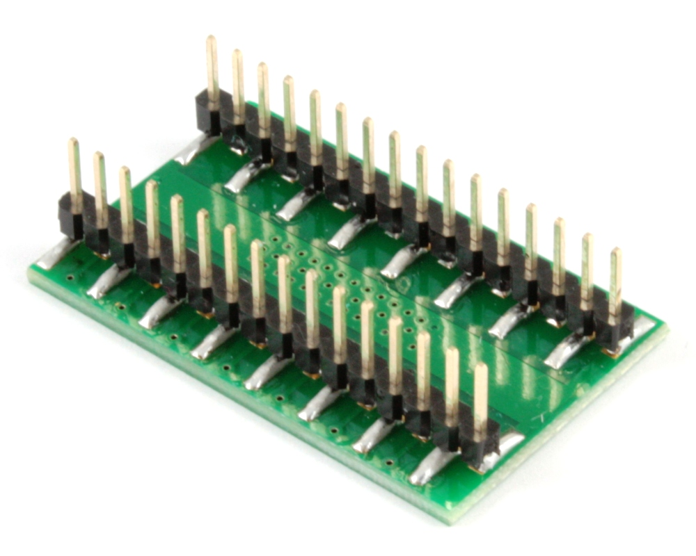 PowerPAD-28/PowerSOIC-28 to DIP-32 SMT Adapter (1.27 mm pitch, 300 mil body) 1