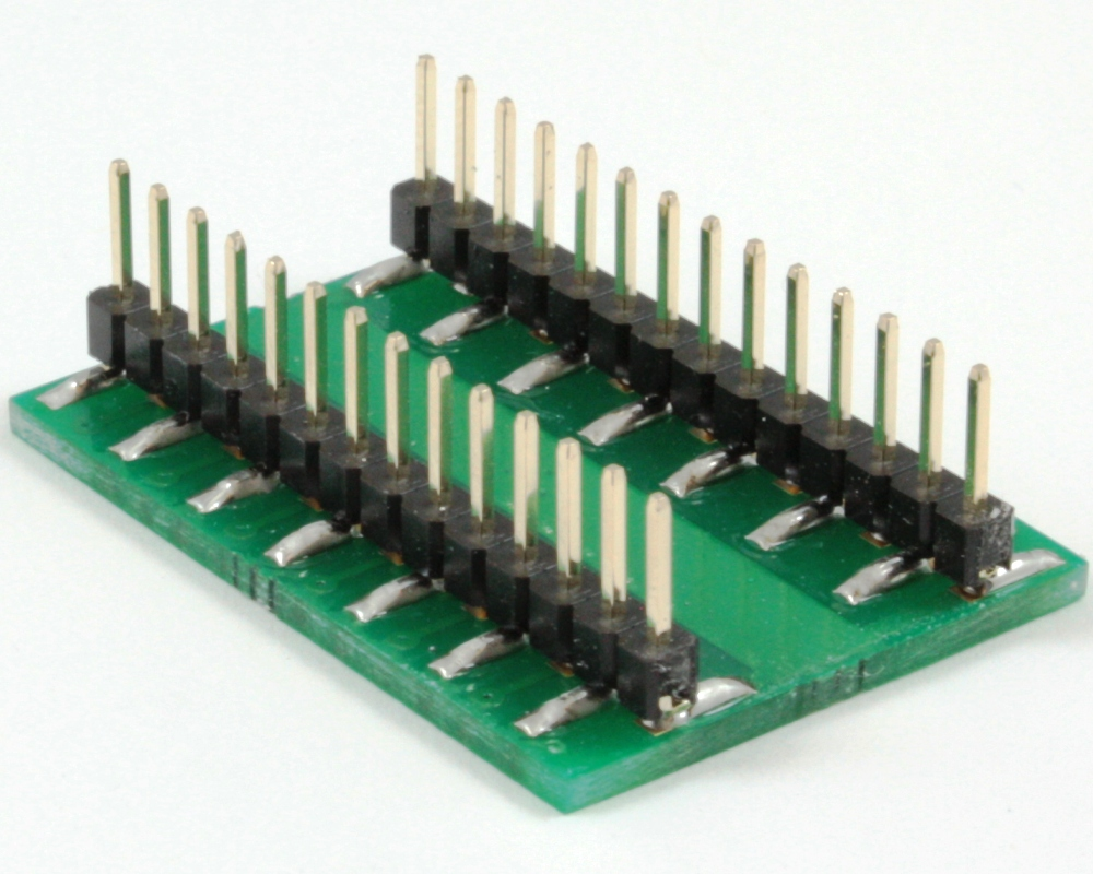QFN-24 to DIP-28 SMT Adapter (0.5 mm pitch, 5.5 x 3.5 mm body) 1