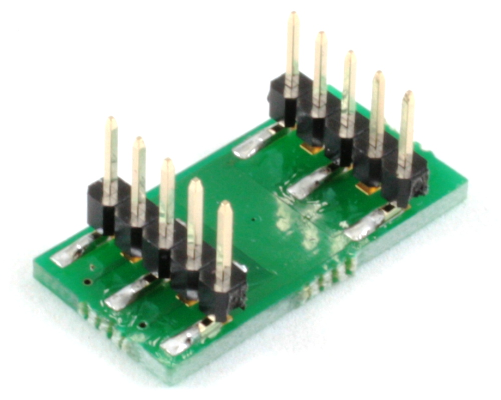 DFN-6 to DIP-10 SMT Adapter (0.5 mm pitch, 1.6 x 2.6 mm body) 1