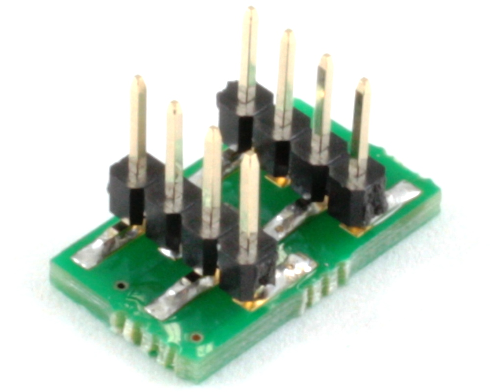 BGA-8 to DIP-8 SMT Adapter (0.5 mm pitch, 2 x 1 mm body) 1