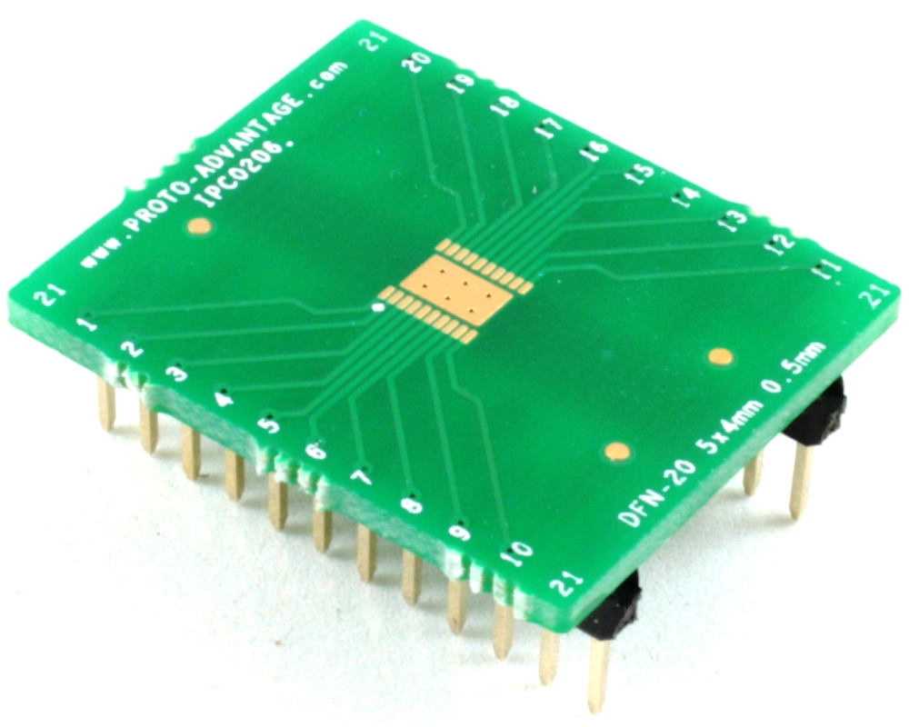 DFN-20 to DIP-24 SMT Adapter (0.5 mm pitch, 5 x 4 mm body) 0