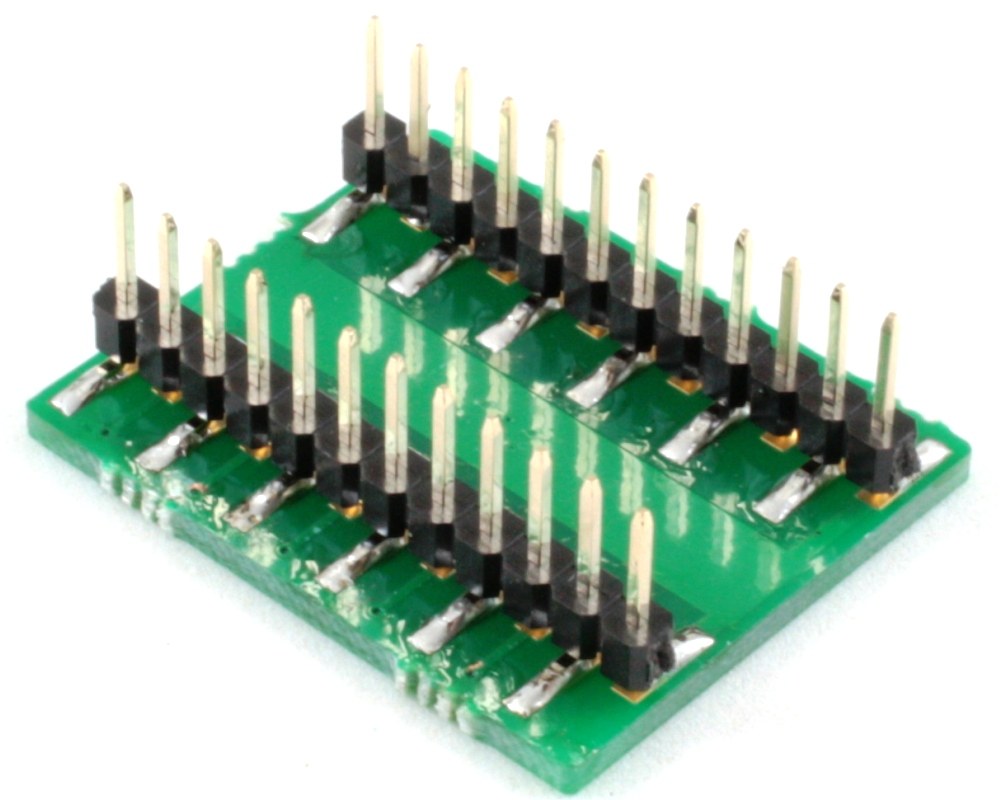 DFN-20 to DIP-24 SMT Adapter (0.5 mm pitch, 5 x 4 mm body) 1